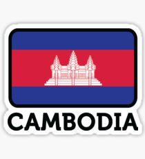 National flag of Cambodia Sticker