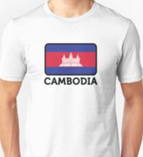 National flag of Cambodia T-Shirt