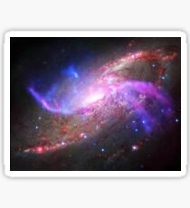 A galactic light show in spiral galaxy NGC 4258. Sticker