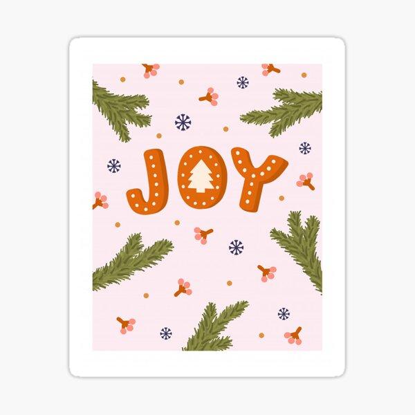 Joy greeting card Sticker