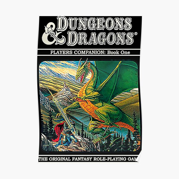 Dungeons & Dragons Retro cover Poster