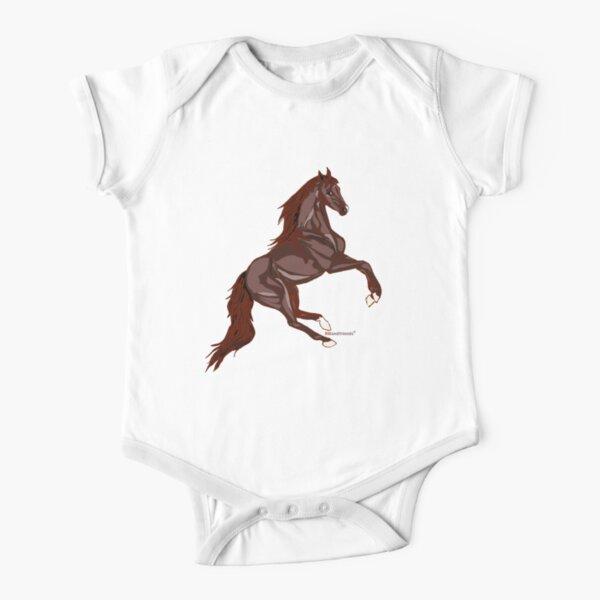 Beautiful Horse Short Sleeve Baby One Piece Redbubble
