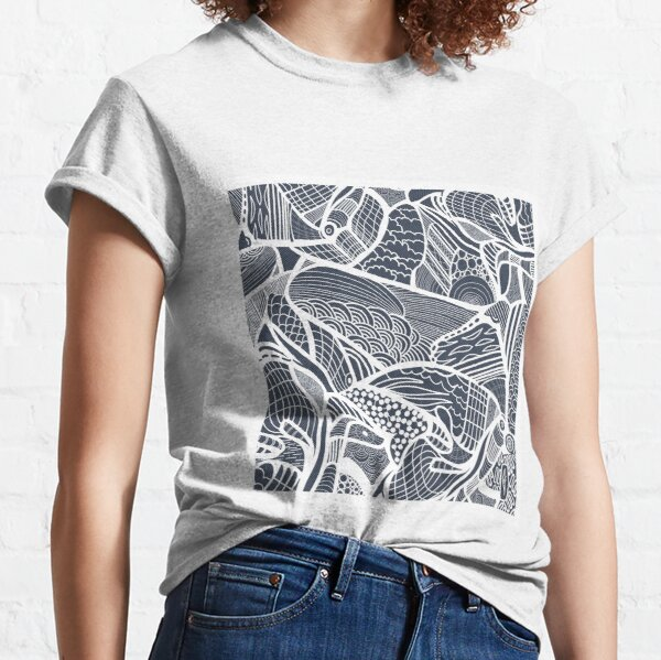 Abstract - Blue & White Classic T-Shirt
