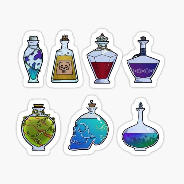 Magical potions - tabletop loot - fantasy items - treasure illustrations  Sticker