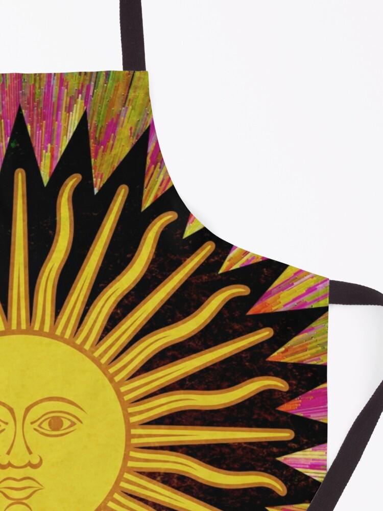 Alternate view of Psychedelic Sun Star / Bohemian Zen Hippie Festival  Apron