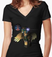 Colonial Marine pony: Corporal Claire Women's Fitted V-Neck T-Shirt