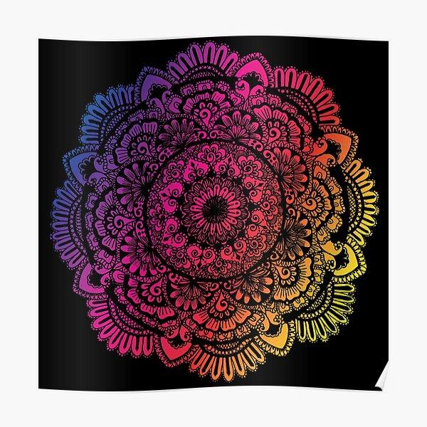 Mandala Art (Colorful) Poster