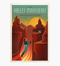 Vintage SpaceX Valles Marineris Mars Travel Photographic Print