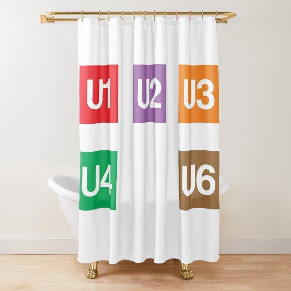 Vienna U-Bahn Symbols Shower Curtain