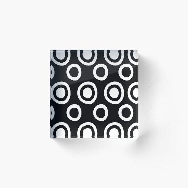 Remix de cercles noirs et blancs Bloc acrylique