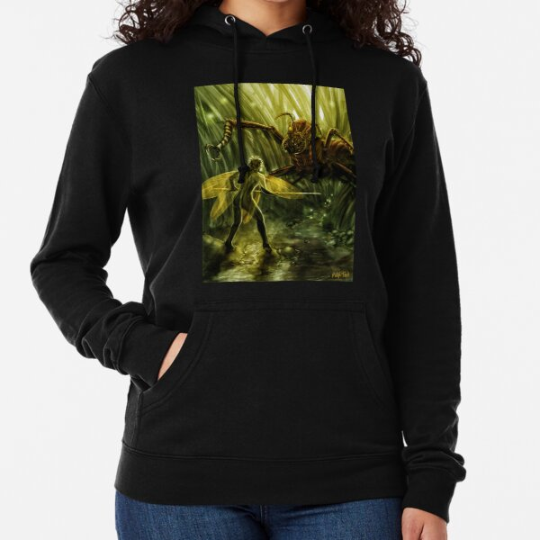 Fairy Confronting a Giant Ant in the Garden, Fantasy Lightweight Hoodie