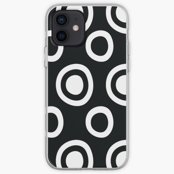Black and White Circles Remix iPhone Soft Case