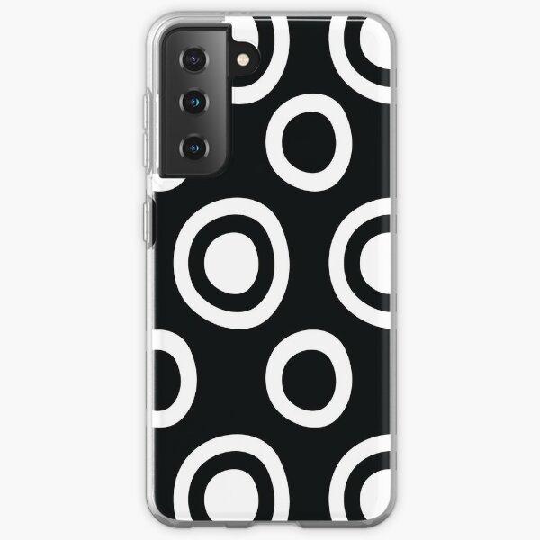 Black and White Circles Remix Samsung Galaxy Soft Case