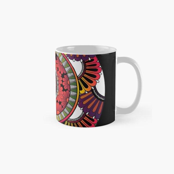 Infloresence Mandala | Black by SimmyGhatt Classic Mug