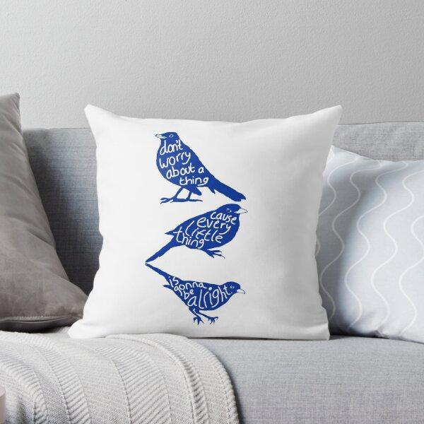 three lil birds. Throw Pillow