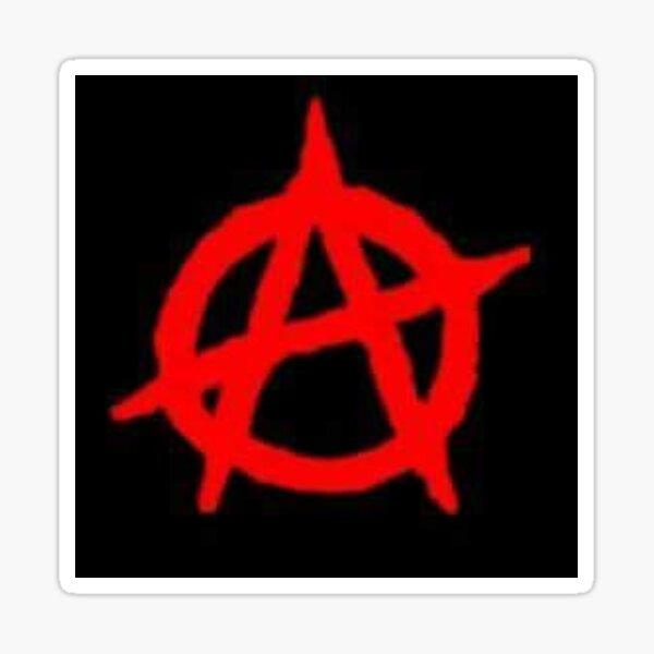 Red Anarchy Sticker
