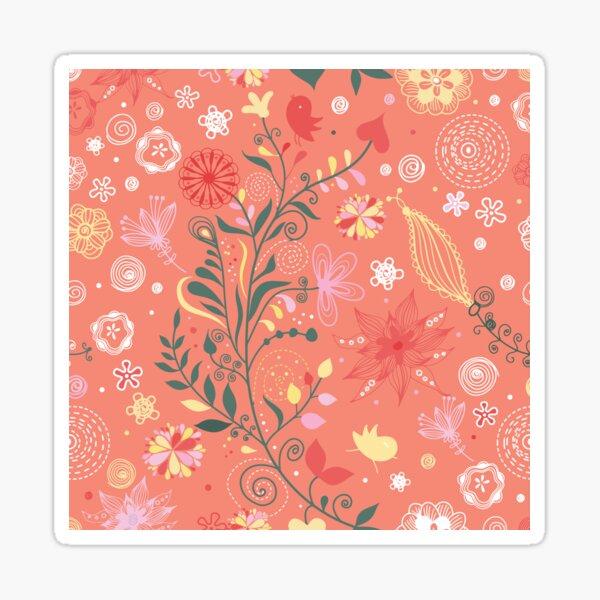Stripe, Flower , Art Sticker