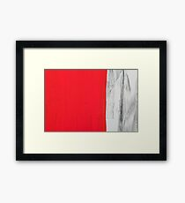 Love and shadow abstract Framed Print
