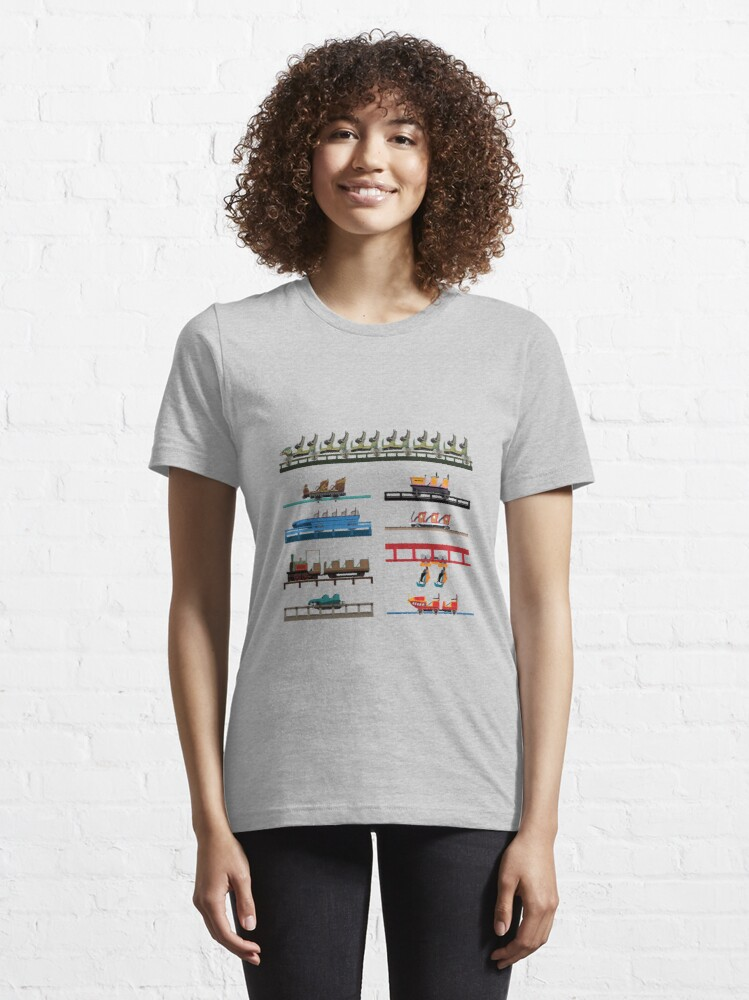 Alternate view of Walibi Belgium Coaster Cars Design Essential T-Shirt