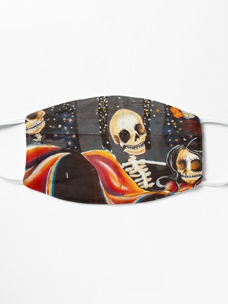 Alternate view of dia de muertos pattern Mask