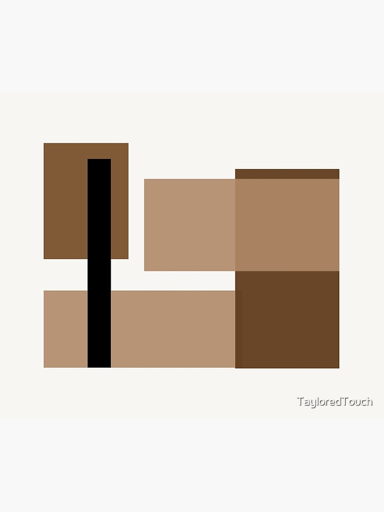 Neutral brown Abstract by TayloredTouch