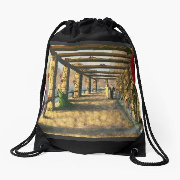 Romantic Medieval Fantasy Art Scene Drawstring Bag