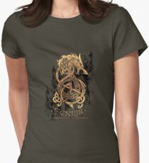 Fenrir: The Nordic Monster Wolf Womens Fitted T-Shirt