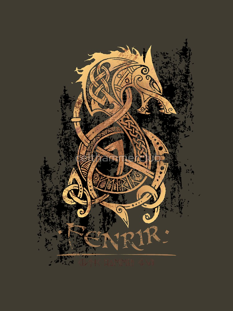 TShirtGifter presents  Fenrir  The Nordic Monster Wolf  54a7e865a