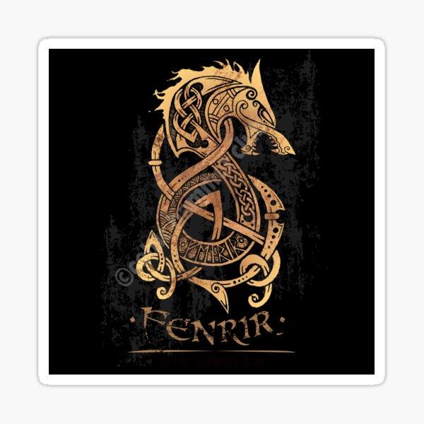 Fenrir: The Nordic Monster Wolf Sticker