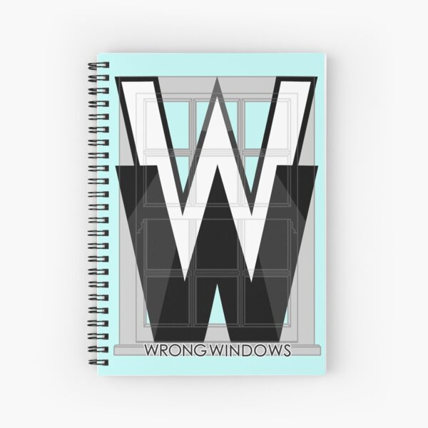 Wrong Windows Double-W Logo Variant #2 (Double-Hung Sash) Spiral Notebook