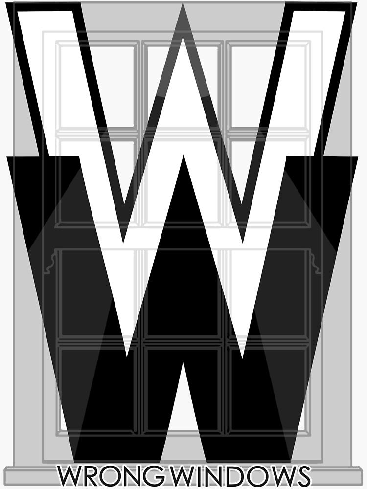 Wrong Windows Double-W Logo Variant #2 (Double-Hung Sash) by billyzduke