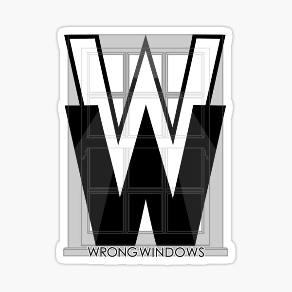 Wrong Windows Double-W Logo Variant #2 (Double-Hung Sash) Sticker