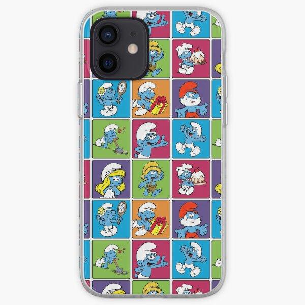 Smurfs - Multitude squares iPhone Soft Case