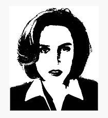 X-Files - Dana Scully Photographic Print