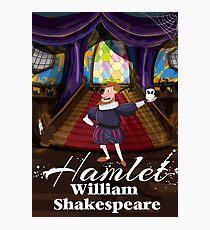 hamlet by William Shakespeare cartoon. Photographic Print