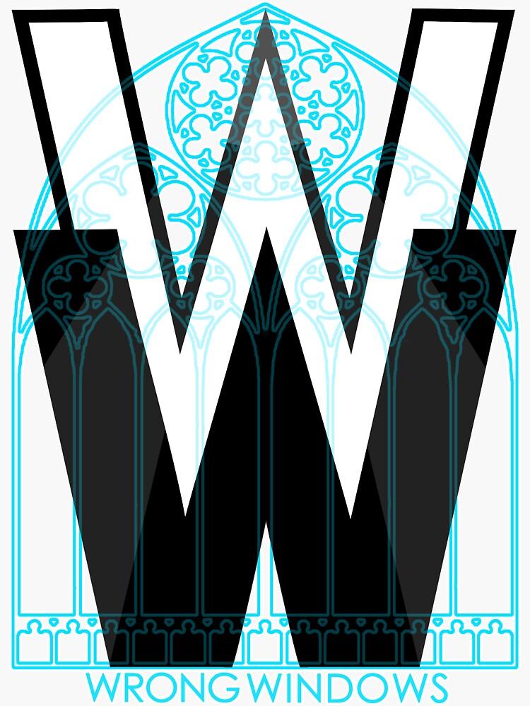 Wrong Windows Double-W Logo Variant #3 (Rose Triple Arch) by billyzduke