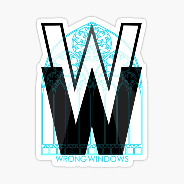 Wrong Windows Double-W Logo Variant #3 (Rose Triple Arch) Sticker