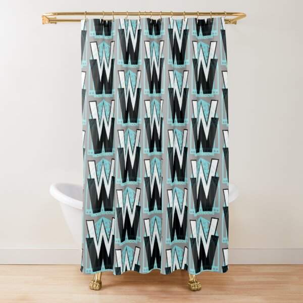 Wrong Windows Double-W Logo Variant #3 (Rose Triple Arch) Shower Curtain