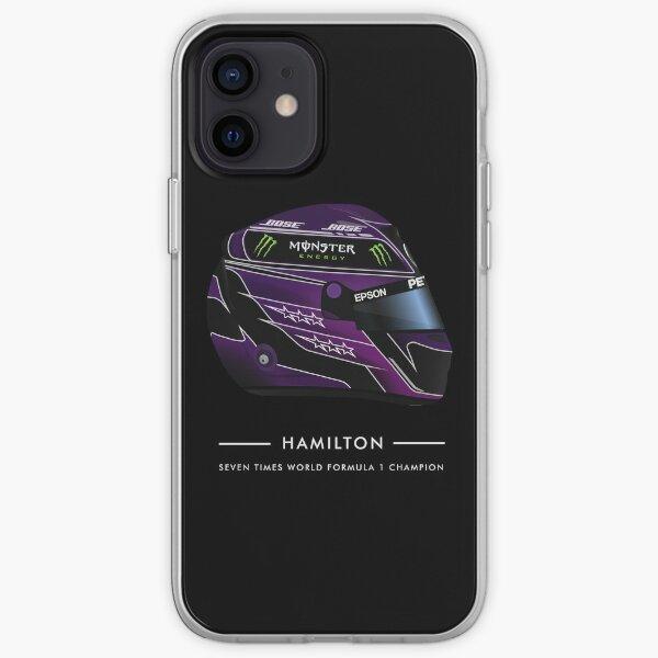 Casque 7 TIMES CHAMPION Lewis Hamilton 2020 BLACK LIVES MATTER - Nommé Coque souple iPhone
