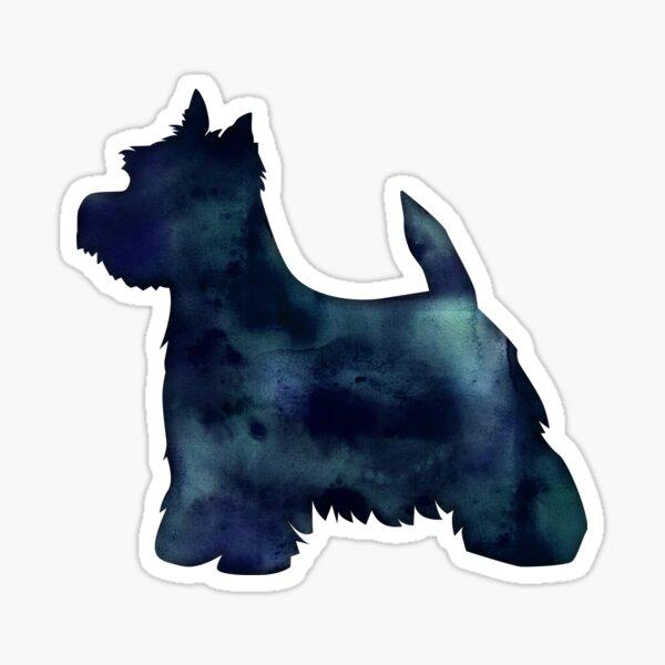 West Highland White Terrier - Westie - Black Watercolor Silhouette Sticker