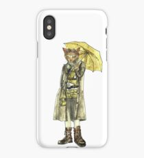 Steampunk Yellow Umbrella Cat iPhone Case/Skin