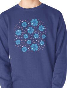 Gentle Blue Flowers Pattern T-Shirt