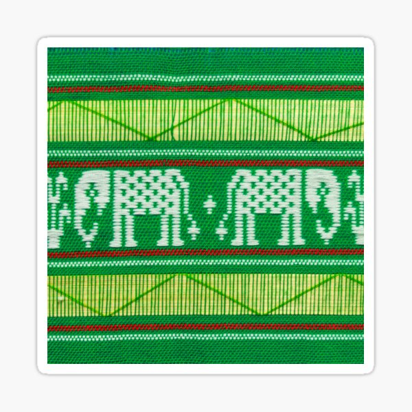 Kente Cloth Textile Pattern Sticker