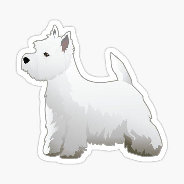 West Highland White Terrier - Westie - Basic Breed Silhouette Sticker