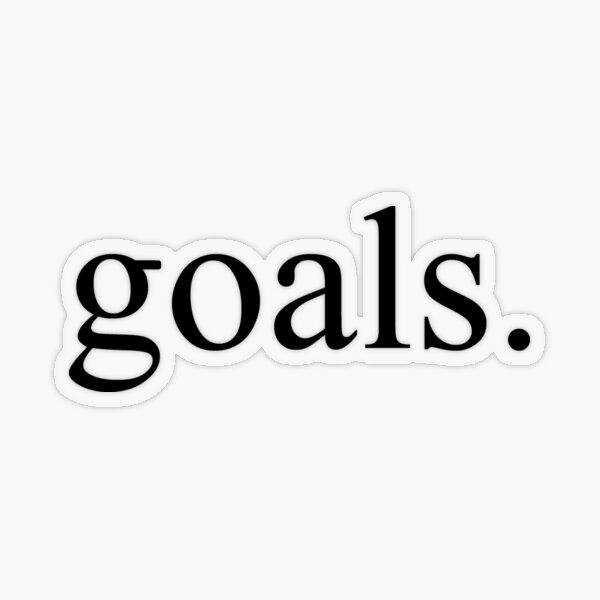Goals Transparent Sticker