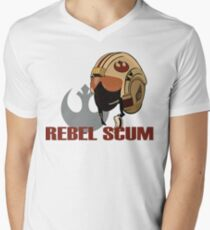 Rebel Scum Mens V-Neck T-Shirt