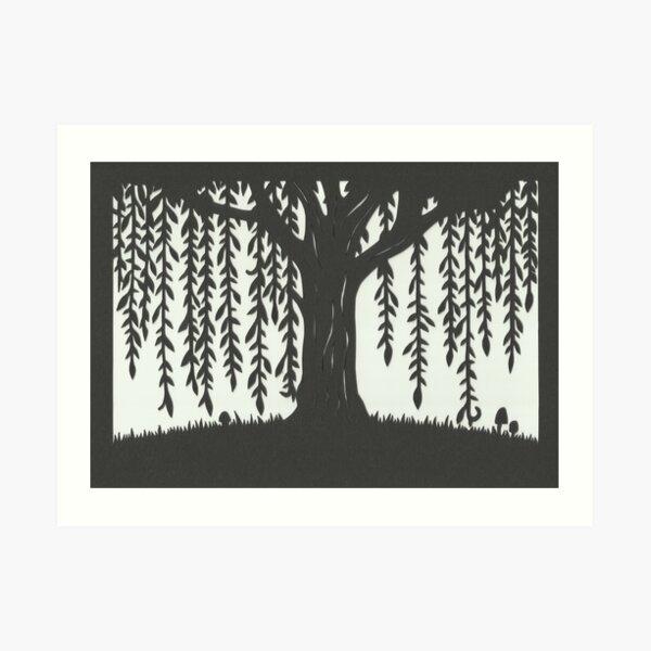 Willow Tree Papercut Art Print