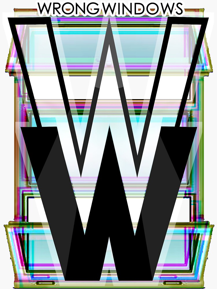 Wrong Windows Double-W Logo Variant #4 (RGB Casement/Pinched) by billyzduke