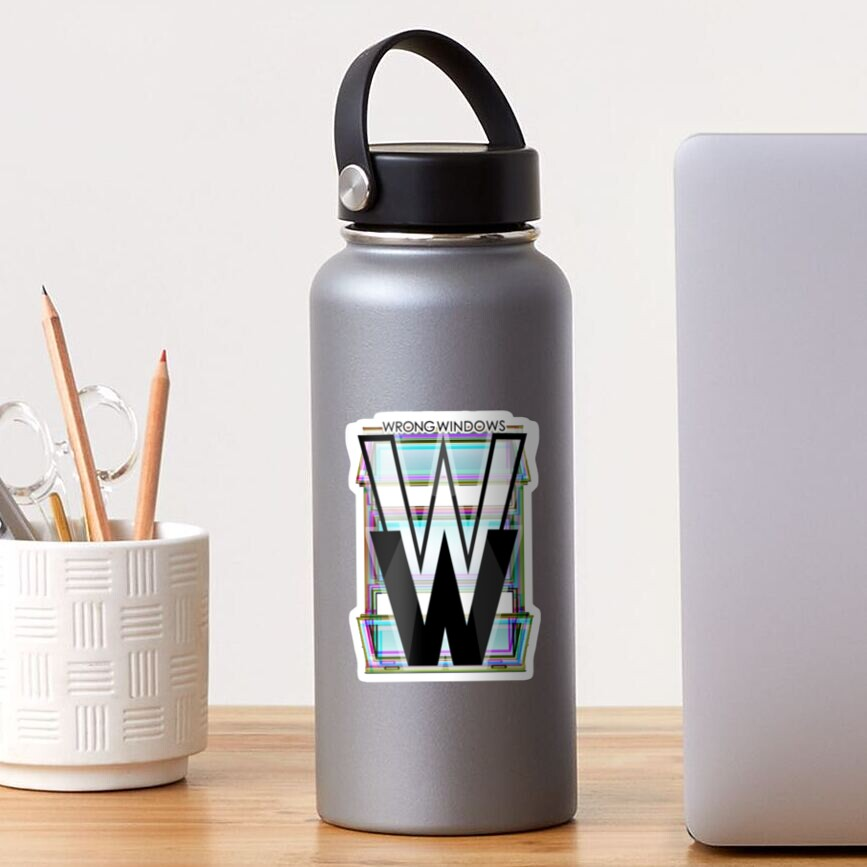 Wrong Windows Double-W Logo Variant #4 (RGB Casement/Pinched) Sticker