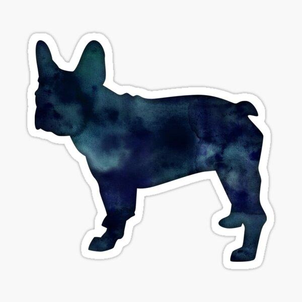 French Bulldog Dog Breed Black Watercolor Silhouette Sticker